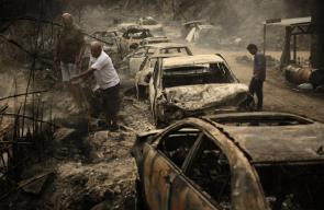 الأضرار الناجمة عن انتشار الحرائق في لبنان