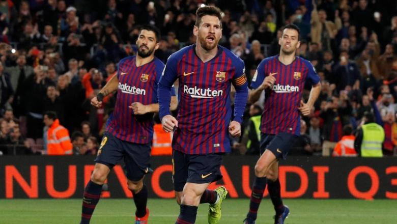 برشلونة يسحق ليون ويتأهل لربع نهائي دوري الابطال