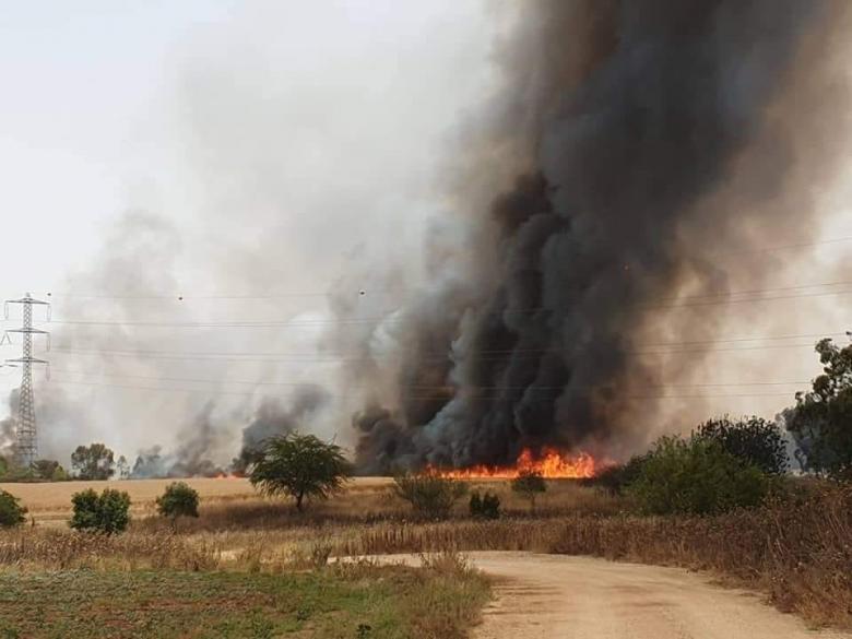 الاحتلال يجلي عشرات العائلات الإسرائيلية بسبب الحرائق