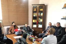 العلاقات الإعلامية في حماس تزور مؤسسات إعلامية بغزة