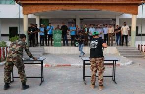 حماس تتفقد مخيمات فرسان فلسطين بالوسطى