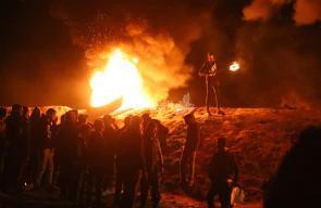 فعاليات الإرباك الليلي شرق مخيم البريج