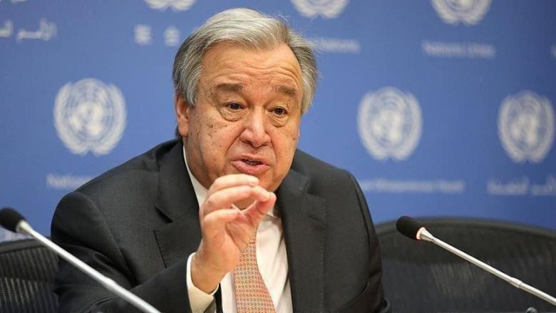 غوتيرش يجدد تأكيد التزام الأمم المتحدة بحل الدولتين