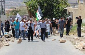 مواجهات مع الاحتلال في بلدة كفر قدوم قضاء قلقيلية