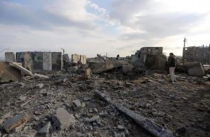 آثار القصف الإسرائيلي على قطاع غزة