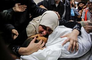 وداع الشهيد زكي غنام الذي ارتقى بقصف شمال قطاع غزة
