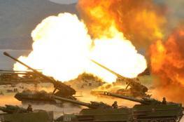 كوريا الشمالية تجري مناورة ضخمة بالذخيرة الحية