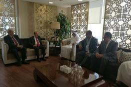 الحساينة يلتقي رئيس هيئة الأشغال العامة القطري