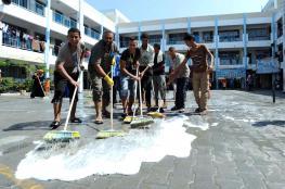 """""""الأونروا"""" تطلق حملة نظافة خلال شهر رمضان"""