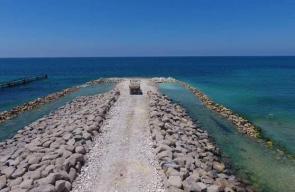 الحاجز البحري على حدود غزة