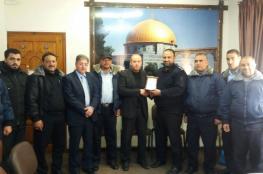 """وفد من """"شرطة الشاطئ يزور رئيس نيابة غزة"""