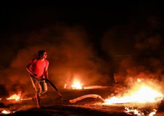 """إصابتان برصاص الاحتلال في فعاليات """"الإرباك الليلي"""" بغزة"""