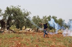 مواجهات مع قوات الاحتلال في بلدة نعلين غرب رام الله