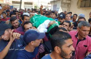 وداع الشهيد أحمد القرا في خانيونس