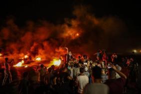 استمرار فعاليات الارباك الليلي شرق مدينة خانيونس جنوب القطاع