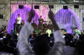 إحياء ذكرى المولد النبوي الشريف في المسجد العمري الكبير بغزة