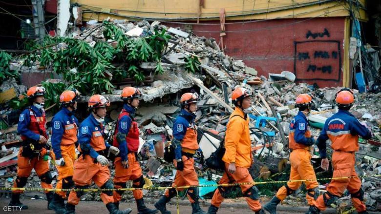 """تزايد عدد قتلى زلزال المكسيك """"المدمر"""""""