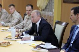"""تسريب صورة جديدة """"مذلة"""" لبشار الأسد مع بوتين"""