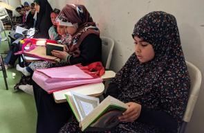 زهرات في مراكز التربية القرآنية بمحافظة رفح