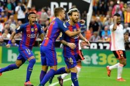 برشلونة يذبح خفافيش فالنسيا بفوز قاتل