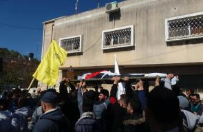 تشييع جثمان الشهيد محمد الجلاد في طولكرم