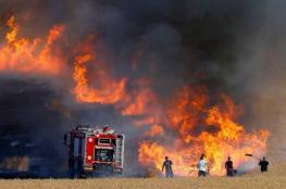 4 حرائق بمستوطنات غلاف غزة بفعل بالونات حارقة