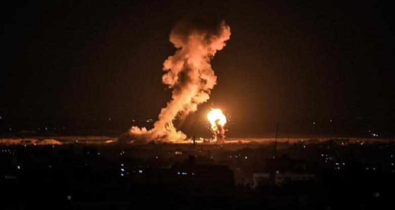 انفجار ضخم في غلاف غزة