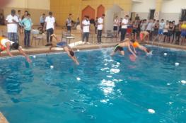مديرية شمال غزة تختتم مسابقة بطولة السباحة للبنين