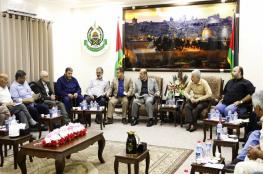 حماس تجري مشاورات مع فصائل وشخصيات وطنية بغزة