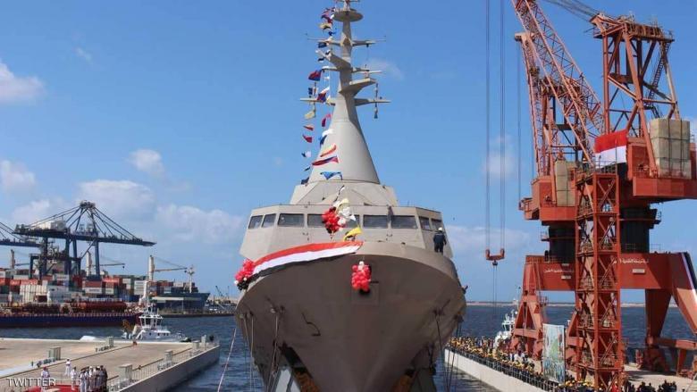 مصر تعلن تدشين أول سفينة حربية محلية الصنع
