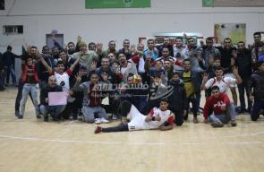 مباراة خدمات البريج واتحاد دير البلح في دوري كرة اليد