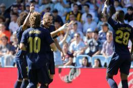 ريال مدريد يفتتح موسمه بثلاثية في سيلتا فيجو