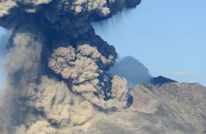 نشاط غير مسبوق في البركان ساموراجيما باليابان
