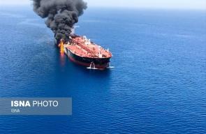 إحدى ناقلات النفط المستهدفة صباحا بخليج عُمان