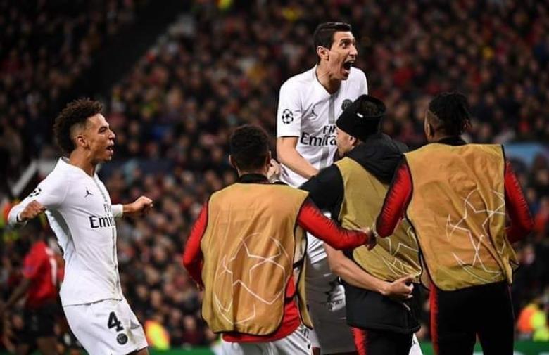 باريس سان جيرمان يضع قدمًا في ربع النهائي بثنائية في شباك اليونايتد