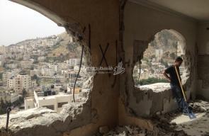 منزل الأسير المقاوم زيد عامر بعد هدمه من الاحتلال