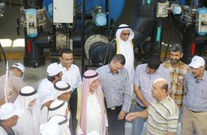وجهاء دير البلح يتفقدون أهم مشاريع البلدية