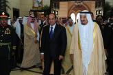 """العاهل السعودي يستقبل الرئيس المصري في """"نيوم"""""""