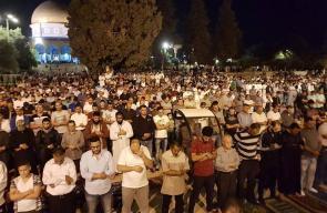 من صلاة التراويح في المسجد الأقصى ليلة أمس