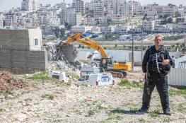الاحتلال يهدم منزل في خربة بيروق بالخليل