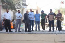 بلدية دير البلح تواصل تطوير منطقة الحدبة بالمدينة