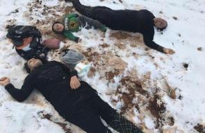 الشهداء السوريون الذين قضوا تجمدا خلال محاولتهم دخول لبنان