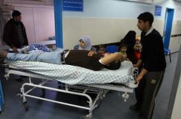 إصابات نتيجة تساقط شظايا القبة  على منازل المواطنين بالشجاعية