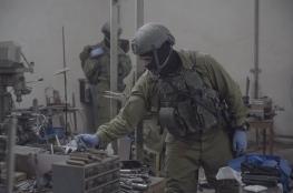 الاحتلال يغلق مخرطتين ويصادر معداتهما بنابلس