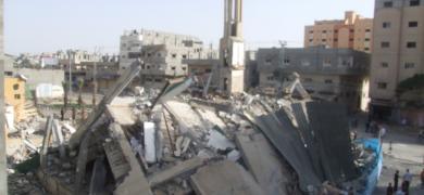 عامان على قصف المسجد الأول في حرب 2014