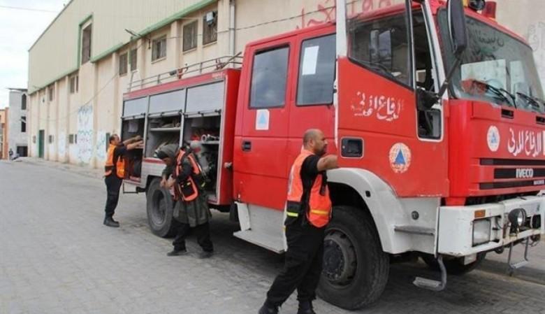 اندلاع حريق في منزل جنوب قطاع غزة