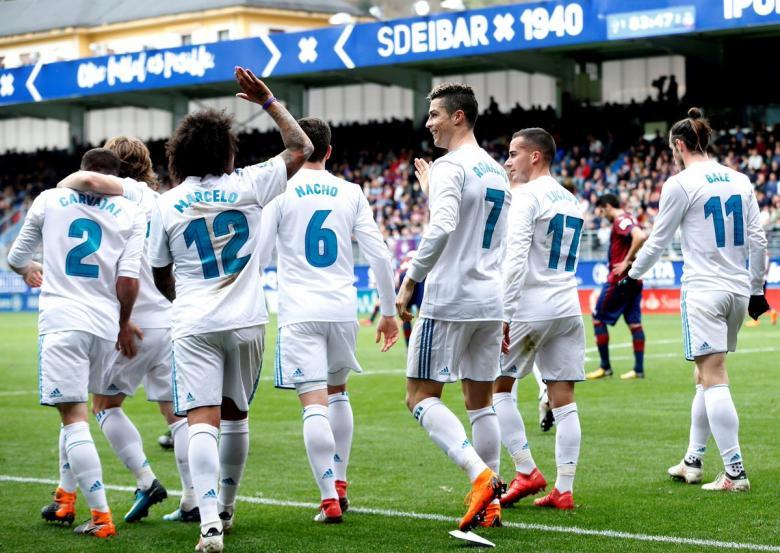 ريال مدريد يهزم إيبار بثنائية كريستيانو