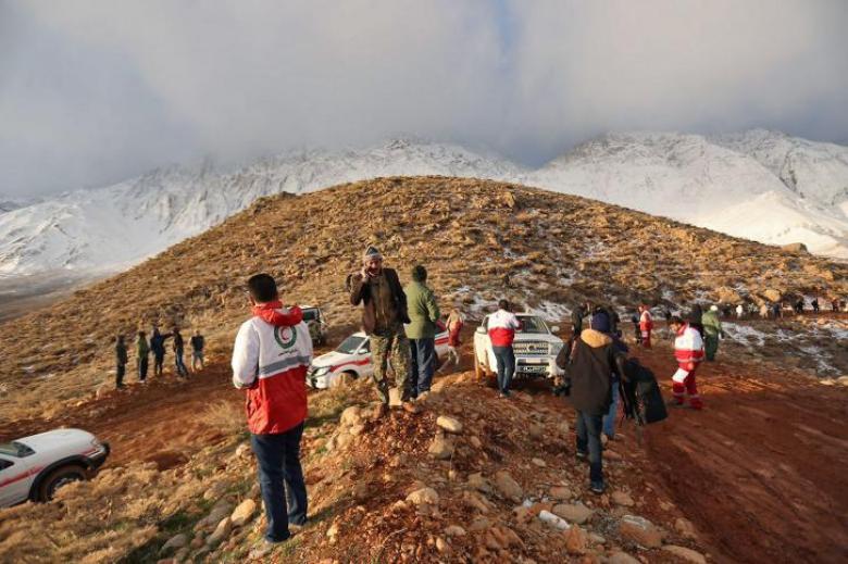 العثور على الطائرة الإيرانية المتحطمة في جبال زاغروس
