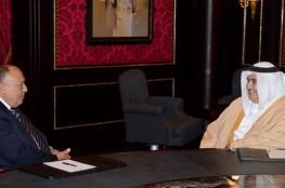 البحرين تبحث مع مصر إحياء عملية السلام مع إسرائيل