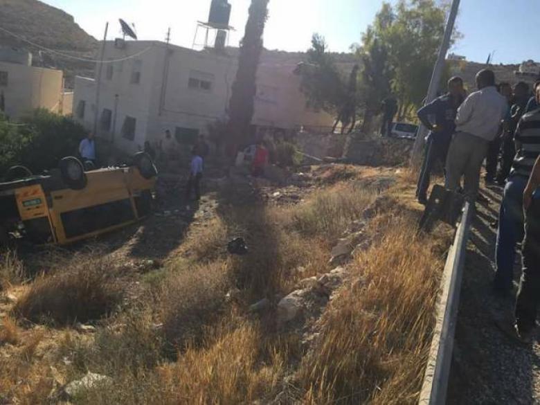 5 إصابات في حادث تصادم شرق بيت لحم